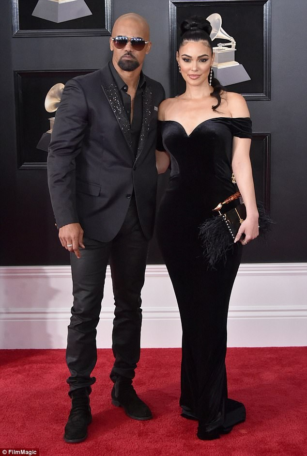 Actor Shemar Moore shows off his new stunning girlfriend Anabelle Acosta at the 2018 Grammy Awards (Photos)