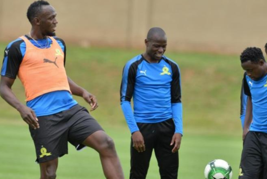 Photos:?Usain Bolt trains with South African football club, Mamelodi Sundowns