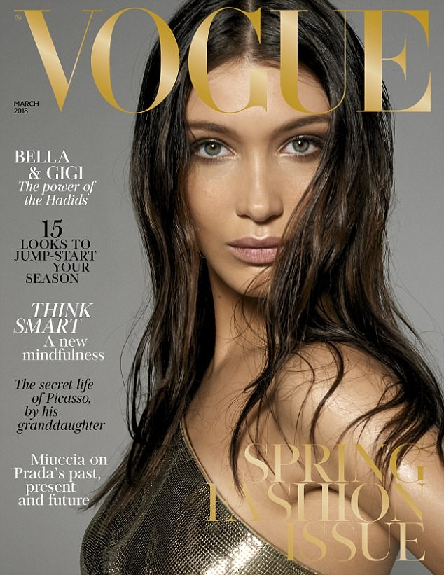 Sisters in crime! Gigi and Bella Hadid pose completely naked for British Vogue shoot (Photos)
