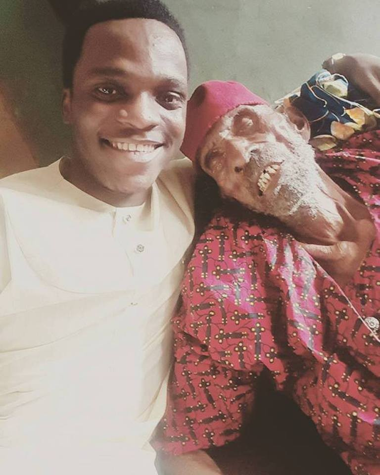 Nigerian man shows off his 145-year-old grandpa (Photos)