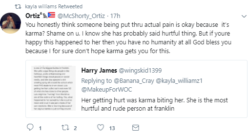 """Her getting hurt was karma biting her. She is the most hurtful person"" School mate reacts to girl whose wig was pulled off by bullies in school"