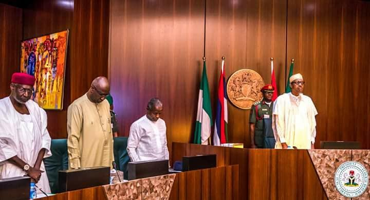 President Buhari presides over the Federal Executive Council FEC meeting(photos)