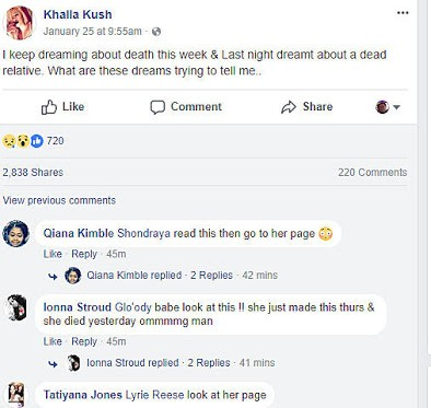 Young lady foresees her death in dream, posts about it on social media, then gets killed days later