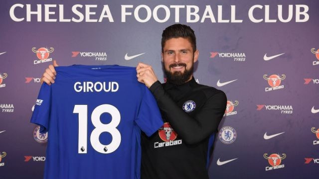 French striker Olivier Giroud joins Chelsea from Arsenal for ?18m (Photos)