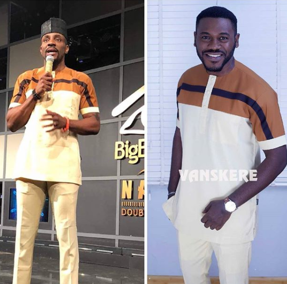 Photo: Ebuka VS Deyemi Okanlawon, who rocked this outfit better?