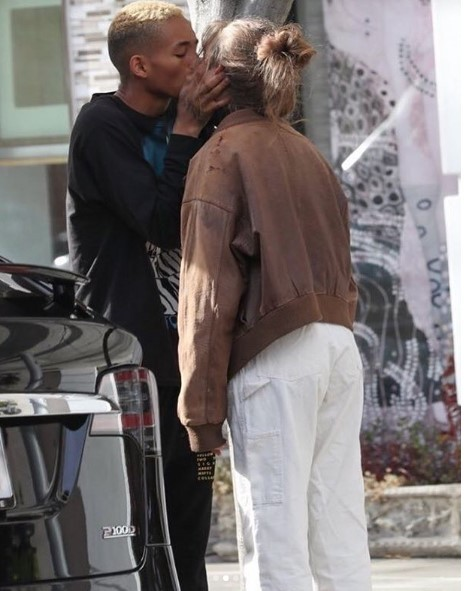Jaden Smith and girlfriend Odessa Adlon pack on the PDA in Beverly Hills