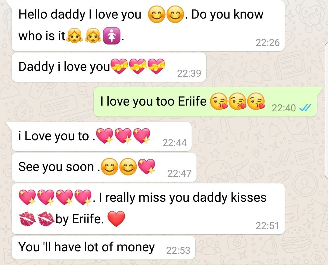 This chat between a Nigerian dad and his 7 year old daughter will make you smile