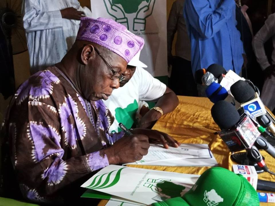 Osetigo! Former president, Olusegun Obasanjo, registers as member of Coalition For Nigeria Movement(photos)