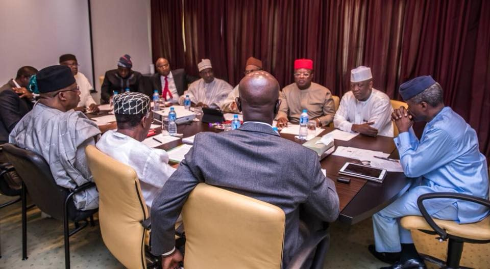 Osinbajo, Governors hold meeting over Herdsmen/Farmers clashes(photos)