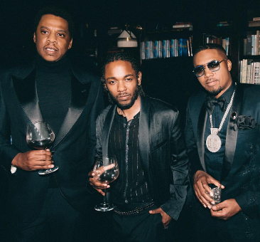 Oh dear! Diddy crops out French Montana and Fabulous from a photo that also featured Jay Z, Kendrick Lamar & Nas