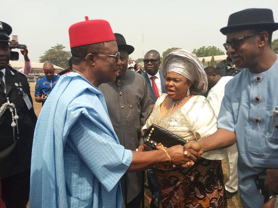 Photos: Patience and Goodluck Jonathan attend ex-VP Alex Ekwueme's burial in Anambra