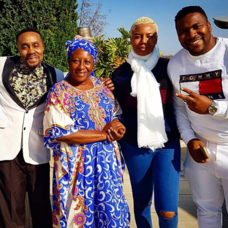 Photos: South African legend, Yvonne Chaka Chaka makes Nollywood debut in