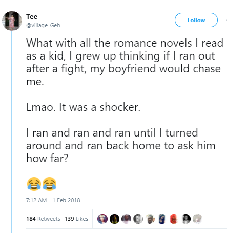 Lol. Incurable romantic recounts how she was snapped back to reality after she got into a relationship