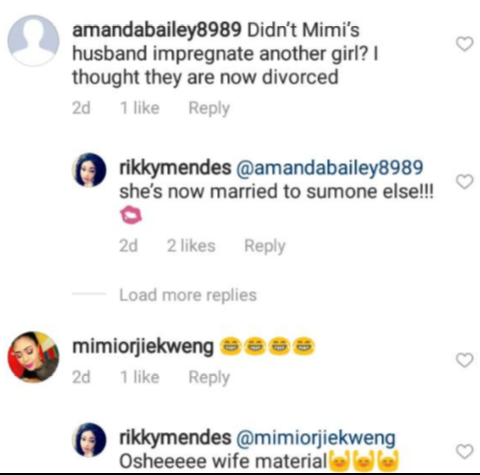 Mimi Orjiekwe has not remarried as ex-husband is yet to collect back her bride price