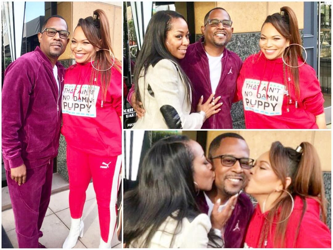 Martin Lawrence and Tisha Campbell kiss and make up 20 years after sexual harrassment allegations