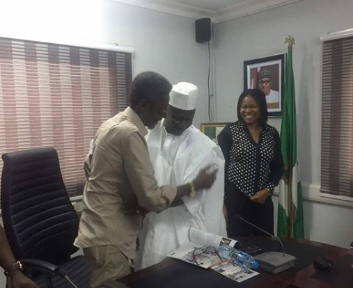 Photos: Veteran actor, Sadiq Daba pays courtesy visit to EFCC chairman, Ibrahim Magu