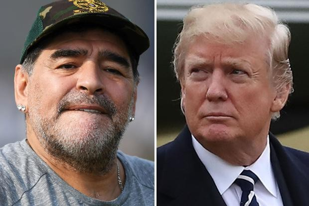Football legend Diego Maradona refused entry to US 'for calling Trump a 'puppet' on TV'