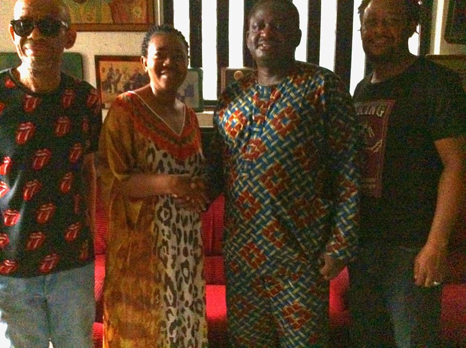 Photos: Femi Adesina pays courtesy visit to the family of late music legend,?Sonny Okosun who died 10 years ago