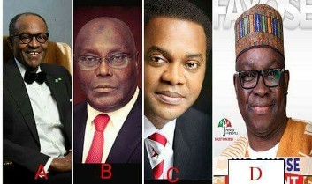 Gun to your head, who would you choose as Nigeria's next president from this four?