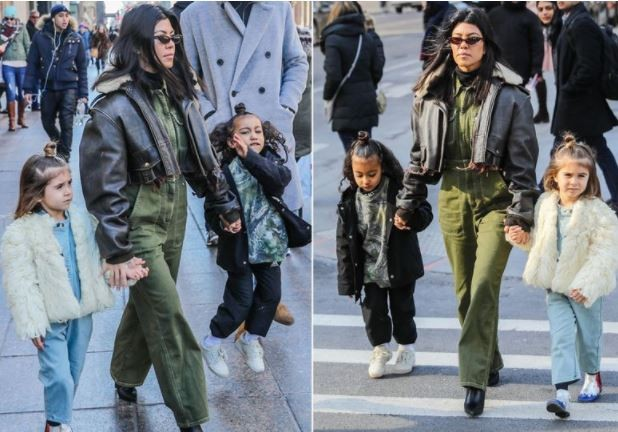 Kourtney Kardashian treats Penelope and North West to  lavish shopping trip in New York (Photos)