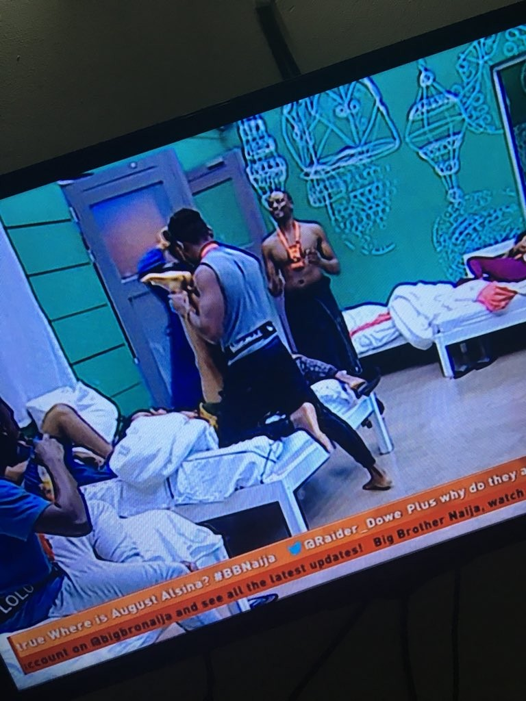 #BBNaija: Miracle and Ifu Ennada dry hump as they are dared to engage in 10 sex positons (photos/video)