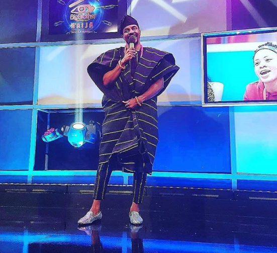 #BbNaija: Again, Ebuka kills it in Agbada