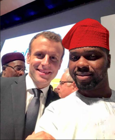 Photos: Adebola Williams meets French President, Emmanuel Macron in Senegal