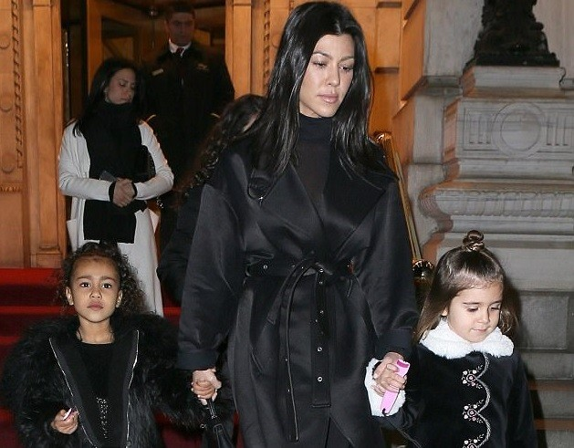 More stylish photos from Kourtney Kardashian's weekend gateway with daughter Penelope and niece North West