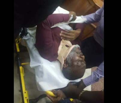 Photos: Former PDP spokesperson, Olisa Metuh arrives court in an ambulance
