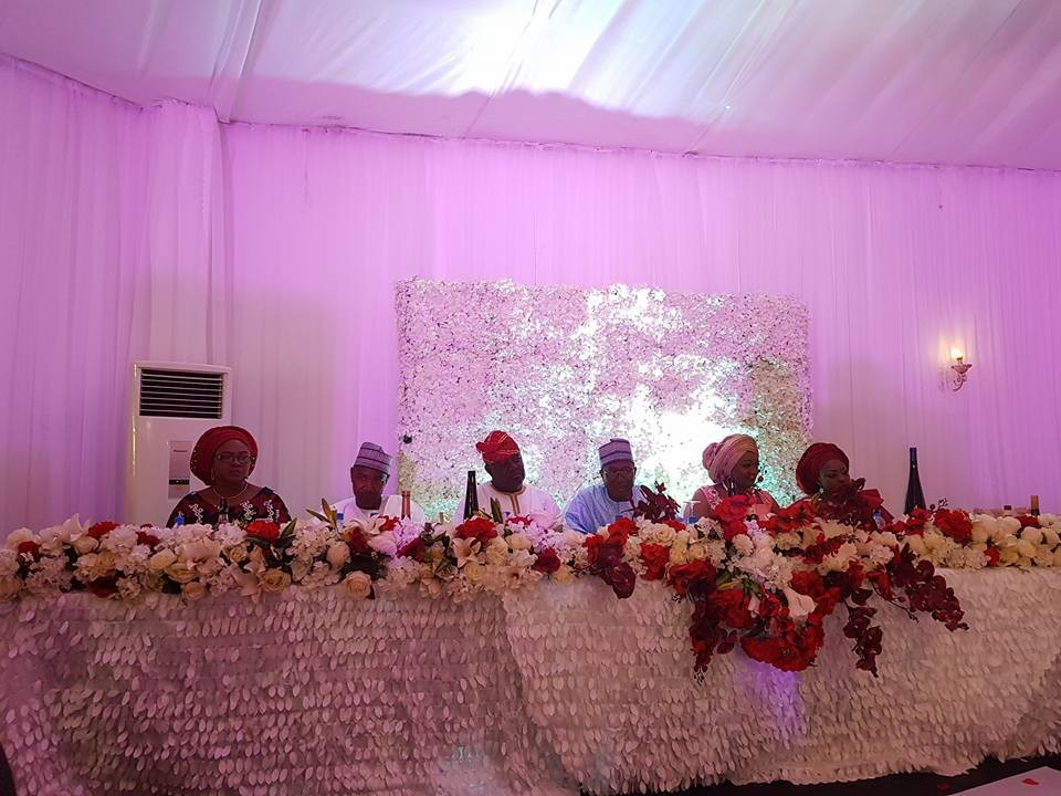 Photos from the wedding reception of NTA staff members, Cyril Stober and Elizabeth Banu