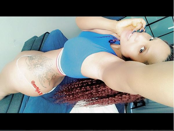 Topless Maheeda shares racy Instagram photo.