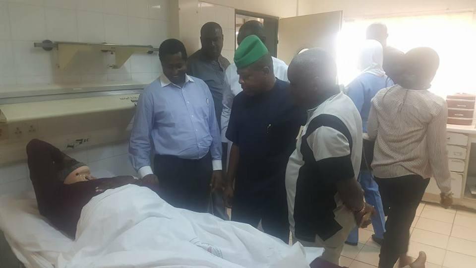 Photos: Ex-House of Reps deputy speaker, Emeka Ihedioha, pays visit to ailing ex-PDP spokesperson, Olisa Metuh