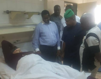 Photos: Ex-House of Reps deputy speaker, Emeka Ihedioha, pays visit to ailing ex-PDP spokesperson, Olisa Metuh