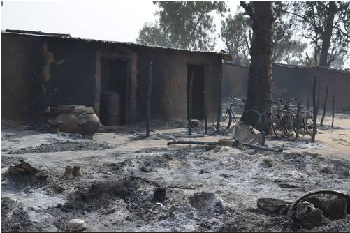 3 people dead and 7 others wounded in new Boko Haram attack where a community was razed in Maiduguri