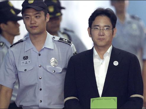 Samsung heir, Lee Jae-yong freed by a South Korean court suspending his five year jail term for bribing ex-president