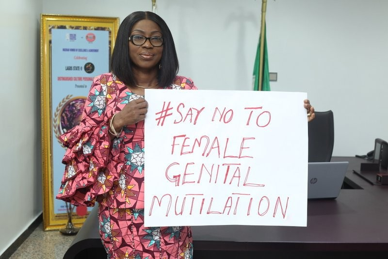 First lady of Lagos State, Bolanle Ambode, marks the International Day of Zero Tolerance for Female Genital Mutilation (FGM)