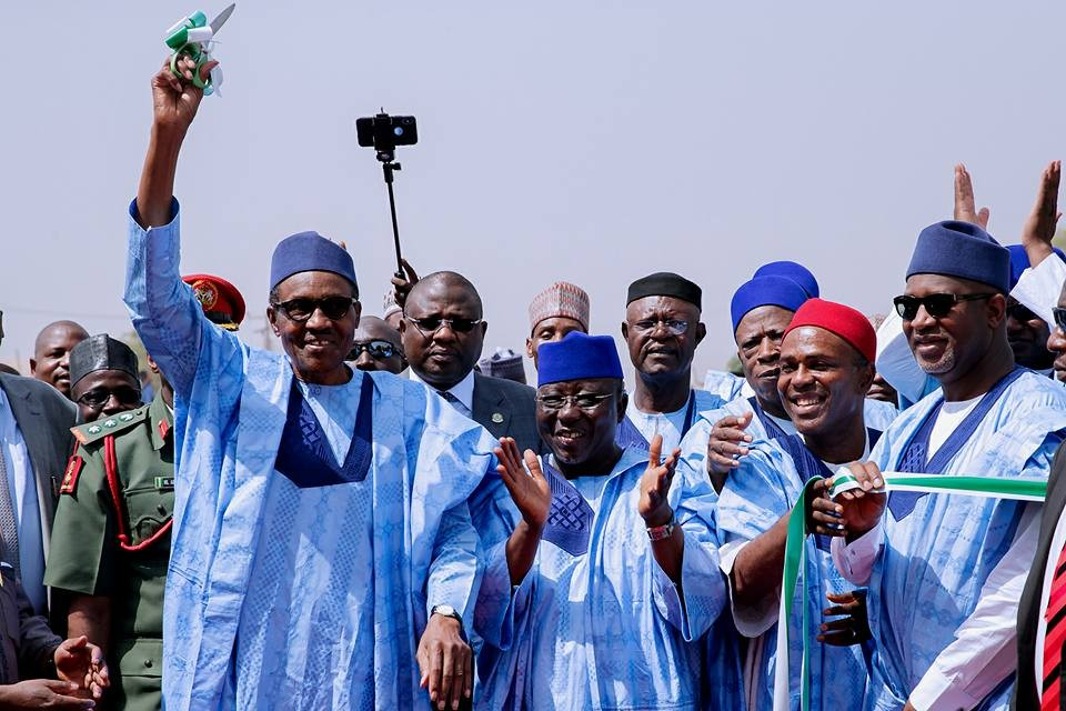 Photos from President Buhari's visit to Nasarawa State