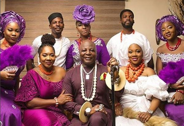 Charlie Boy shares beautiful family photo with his wife and children.