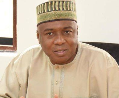 Bukola Saraki mocks the war against corruption of this administration