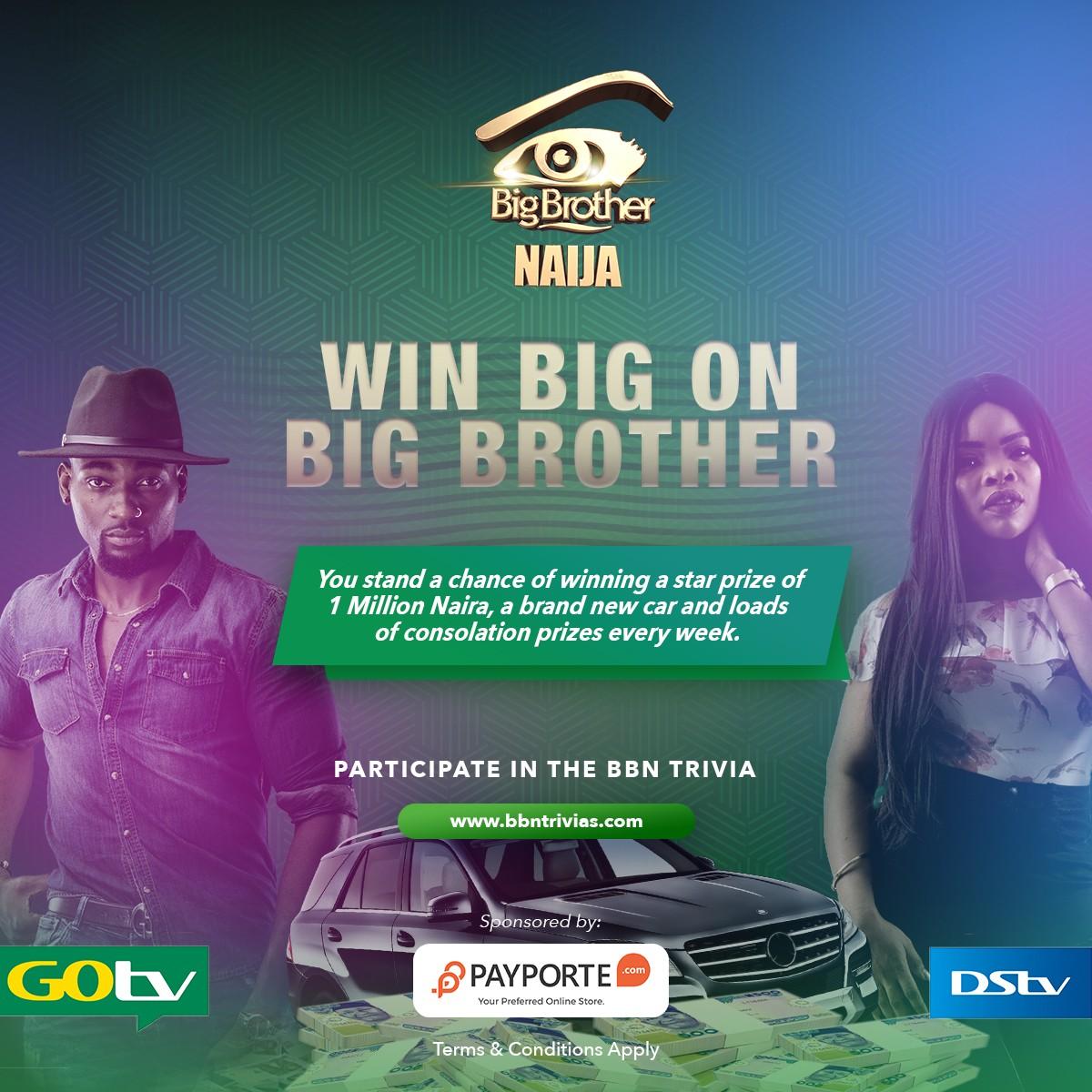Win big on Big Brother Naijia Trivia