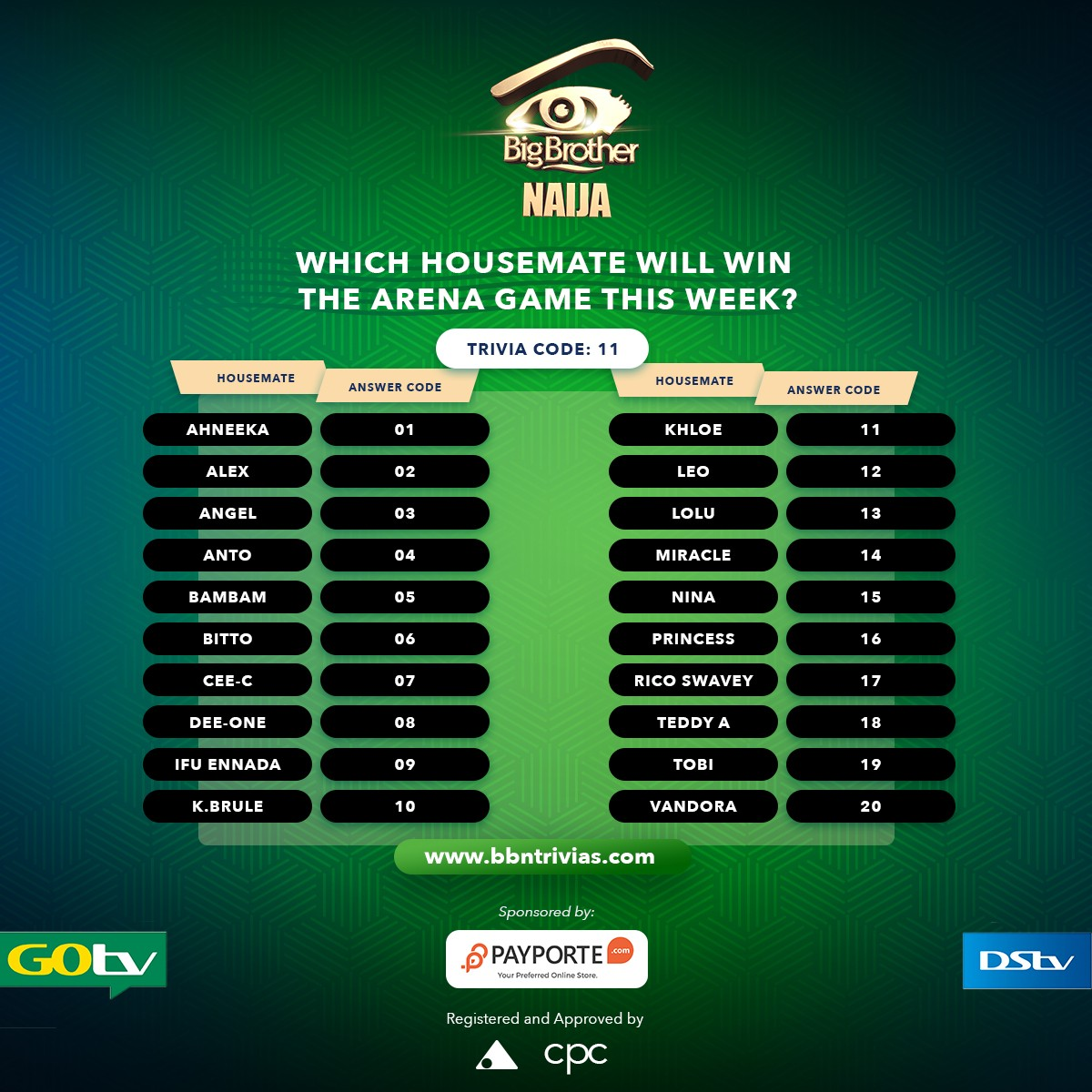 Win big on Big Brother Naijia Trivia