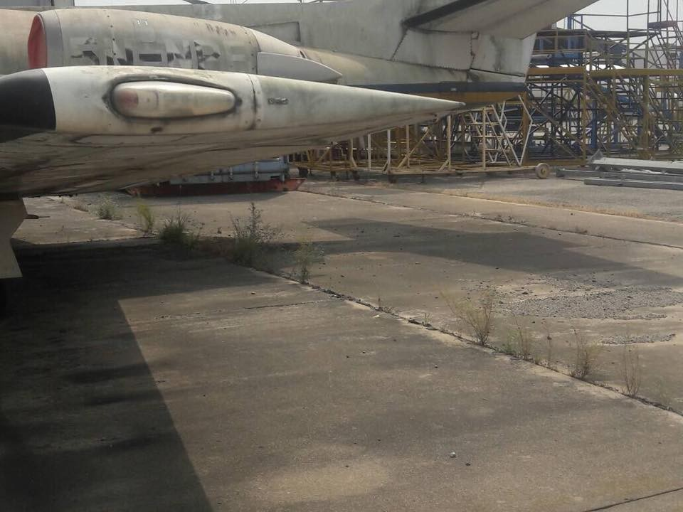 Photos of jets owned by the Nigerian police rotting away in Lagos airport due to lack of maintenance