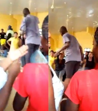 Trending video of UNIOSUN lecturer flogging a female student
