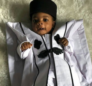 This little boy rocking Ebuka's Agbada will make you smile!