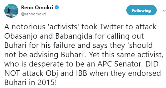 Is Reno Omokri shading Festus Keyamo?