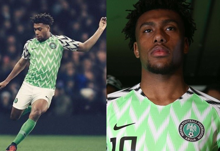 Details about Nigeria's abstract zig-zag pattern jersey for 2018 World Cup (Photos)