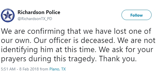 Texas police officer shot and killed while responding to 911 call