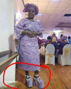 Lol! Checkout this lady's shoes