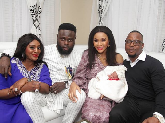 Photos from the naming ceremony of Yomi Casual's daughter