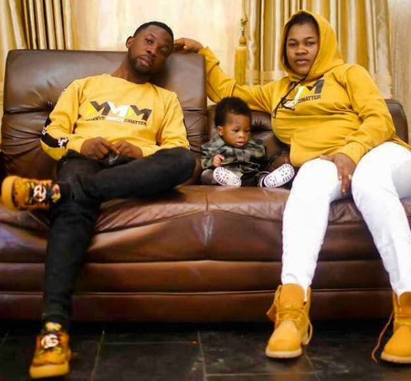 Celestial prophet, Dele Ogundipe rocks matching outfit with his wife and son (Photo)